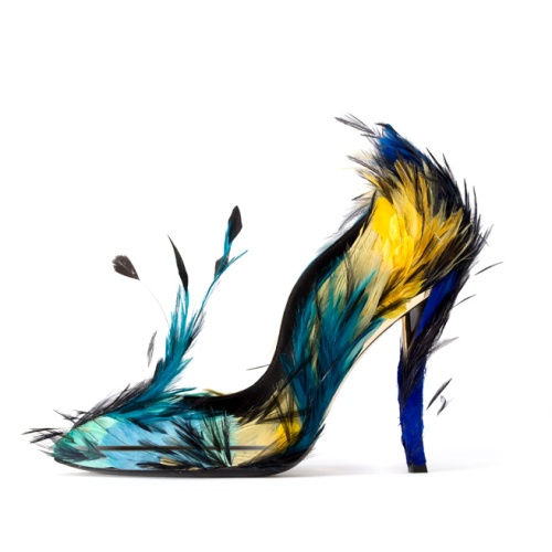 Roger Vivier feather shoes
