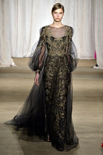 47109243d9 Marchesa fall 2013 – black dress with gold emroidery | zaidd'or