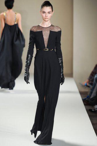 Temperley London Fall 2013 Black Dress With Gloves Zaiddor