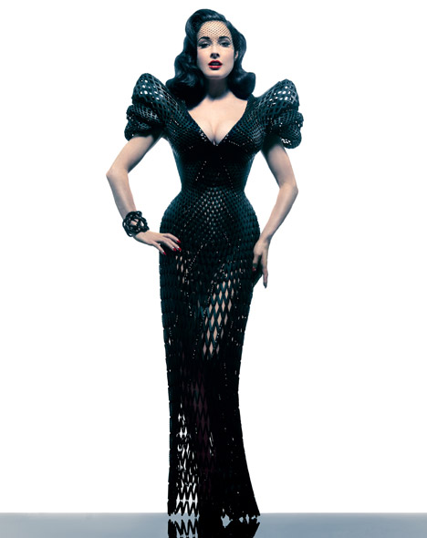 Dita Von Teese dezeen_3D-printed-dress-by-Michael-Schmidt-and-Francis-Bitonti_11