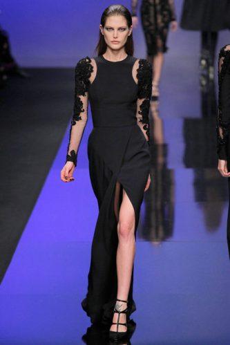 0ebb6cb5d0f Elie Saab Fall 2013- Long black dress IIII