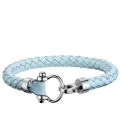 Omega Aqua bracelet leather baby blue