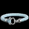 Omega Aqua bracelet leather baby blue