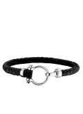 Omega Aqua bracelet leather black