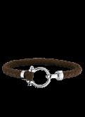 Omega Aqua bracelet leather brown