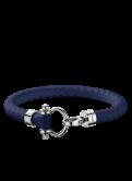 Omega Aqua bracelet marine blue rubber