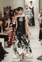 CHANEL resort 2014 Singapore - Black dress with white ruffles