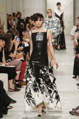 CHANEL resort 2014 Singapore - Black dress with white ruffles