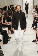 CHANEL resort 2014 Singapore - Men black jacket and pants