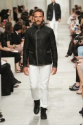 CHANEL resort 2014 Singapore - Men black jacket and white pants
