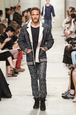 CHANEL resort 2014 Singapore - Men jacket and pants in grey