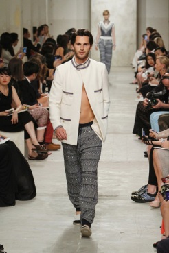 CHANEL resort 2014 Singapore - Men Jacket and pants