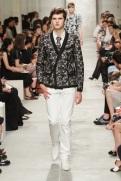 CHANEL resort 2014 Singapore - Men's black jacket and white pants III