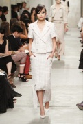 CHANEL resort 2014 Singapore - White chanel suit