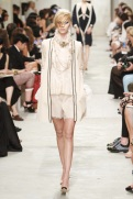 CHANEL resort 2014 Singapore - White dress and cardigan
