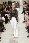 CHANEL resort 2014 Singapore - Women's black jacket and white pants