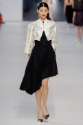 Dior Cruise 2014 - Black dress with white jacket