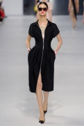 Dior Cruise 2014 - Black zipped up dress