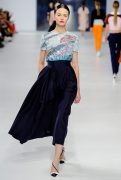 Dior Cruise 2014 - Blue top and navy blue pants