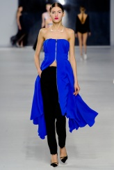 Dior Cruise 2014 - electric blue long top and black pants