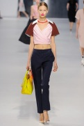 Dior Cruise 2014 - Pink and brown top with blue pants