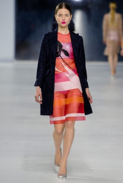 Dior Cruise 2014 - Pink and orange dress
