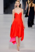 Dior Cruise 2014 - Red and pink dress