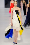 Dior Cruise 2014 - White, black, yellow, blue and pink dress