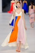Dior Cruise 2014 - white pink blue and orange dress