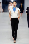 Dior Cruise 2014 - White top and black pants