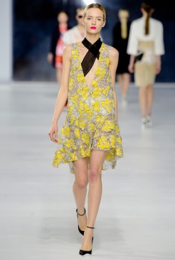 Dior Cruise 2014 - Yellow silver dress
