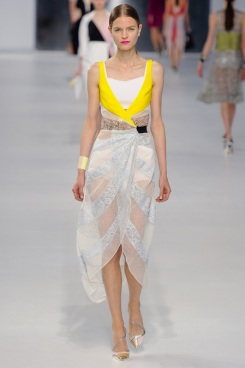 Dior Cruise 2014 - Yellow white and blue dress
