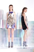 Just Cavalli Resort 2014 - White and purple printed dress