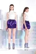 Just Cavalli Resort 2014 - White top and purple skirt