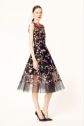 Oscar de la Renta 2014 Resort - Black floral embroidered dress