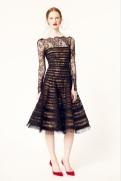 Oscar de la Renta 2014 Resort - Black sheer dress