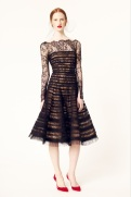 Oscar de la Renta 2014 Resort - Black sheer dress