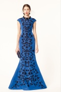 Oscar de la Renta 2014 Resort - electric blue long dress