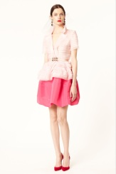 Oscar de la Renta 2014 Resort - Pink silk skirt and top