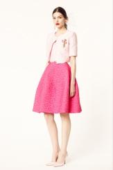 Oscar de la Renta 2014 Resort - Pink skirt top and jacket