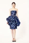 Oscar de la Renta 2014 Resort - Short blue dress with white floral