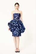 Oscar de la Renta 2014 Resort - Short blue dress with white floral