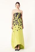 Oscar de la Renta 2014 Resort - Yellow dress with purple flowers