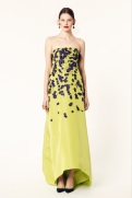 Oscar de la Renta 2014 Resort - Yellow dress with purple flowers