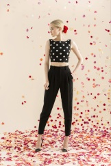 Alice + Oliva Resort 2014 - Polka dot black top with black pants