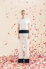 Alice + Oliva Resort 2014 - White and navy blue top and pants