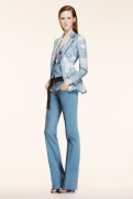 Altuzarra Resort 2014 - Blue paisley jacket and jeans pants