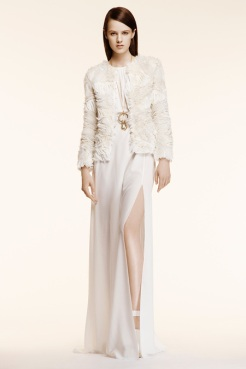 Altuzarra Resort 2014 - White dress with ruffled jacket