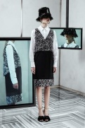 Balenciaga Resort 2014 - grey black and white dress