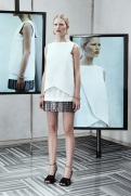 Balenciaga Resort 2014 - White dress with grey